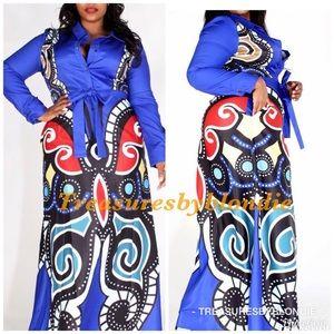 New💕 Curvy  Diva Butterfly Maxi Dress